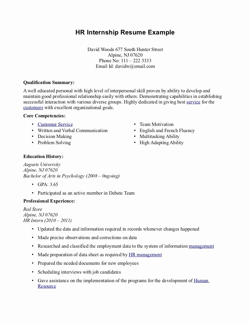 Fashion Intern Resume Examples