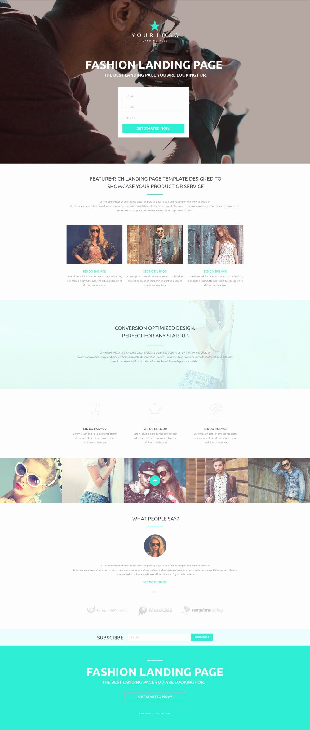 Fashion Landing Page Template