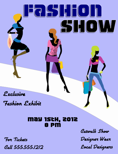 Fashion Show Flyer Template View