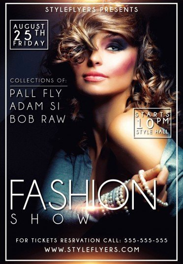 Fashion Show Psd Flyer Template 9555 Styleflyers