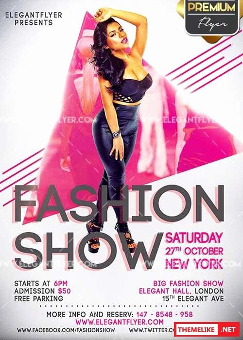 Fashion Show V2 Flyer Psd Template Cover All