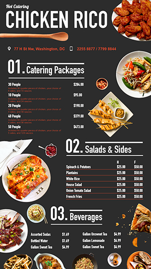 Fast Food Digital Menu Board Design for Restaurant