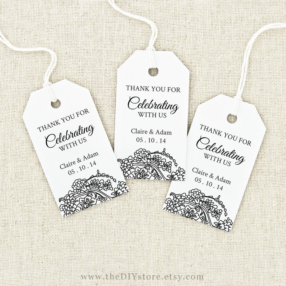 Favor Tag Printable Text Editable Medium Tag Size Wedding