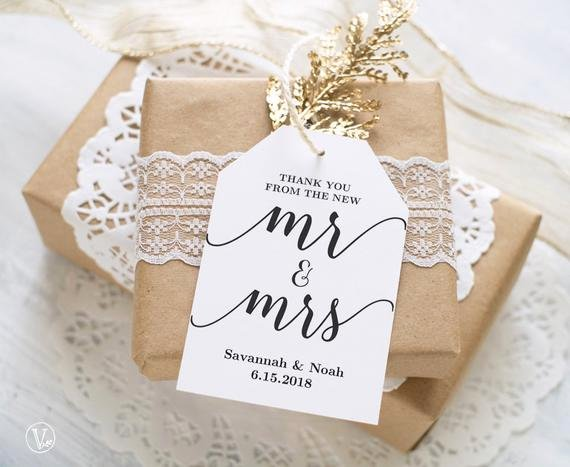 Favor Tags Printable Wedding Favor Tags Template Thank You