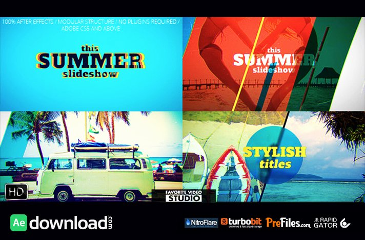 Favorite Summer Slideshow Videohive Free Download
