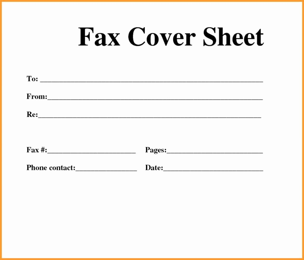 Fax Cover Sheet Free Printable