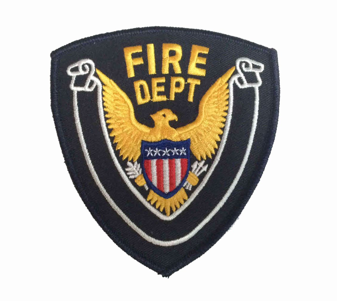 Fd Fire Department Fire Dept Eagle Center Shoulder Uniform