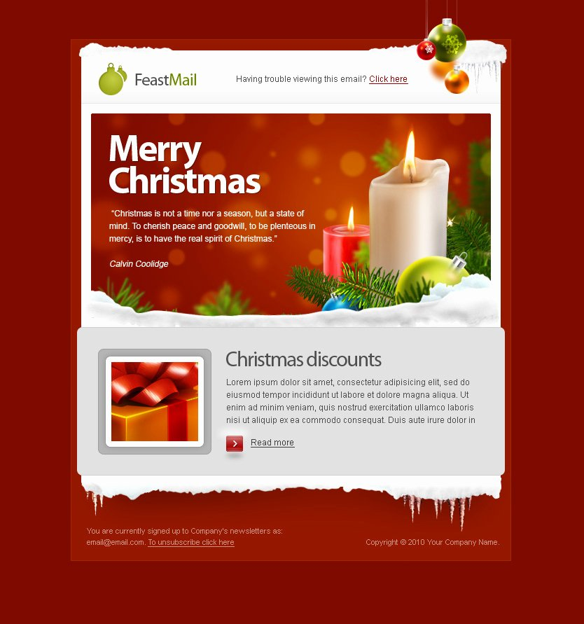 Feastmail Christmas and Corporate Email Template by
