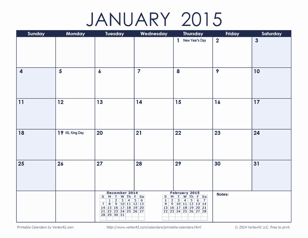 February 2016 Calendar Template – 2017 Printable Calendar