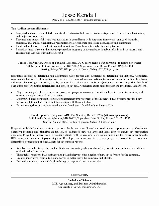 Federal Resume Sample Template