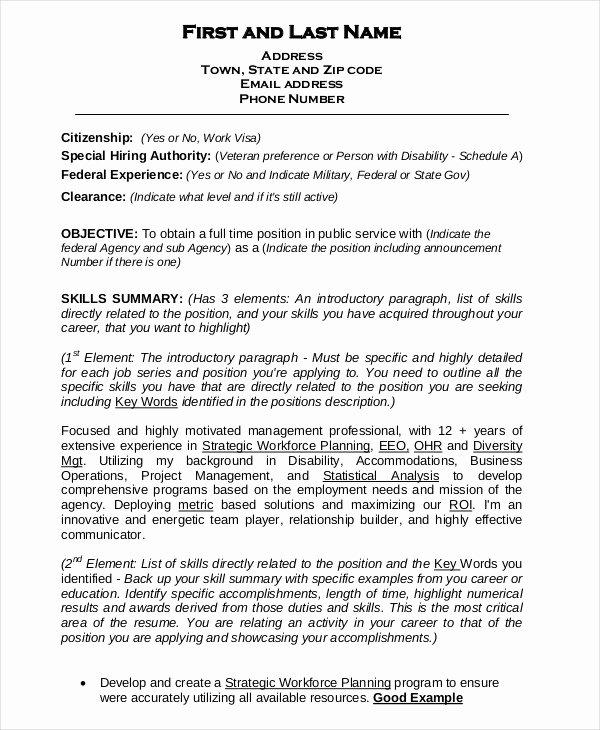 Federal Resume Samples Ksdharshan