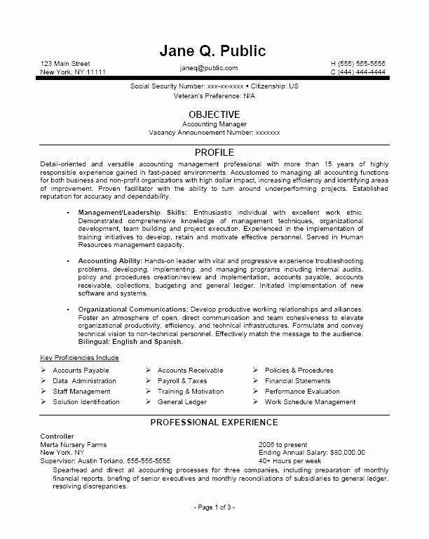 Federal Resume Template Administrative Ficer Federal