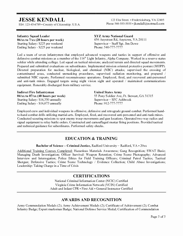 Federal Resume Template Microsoft Word Federal