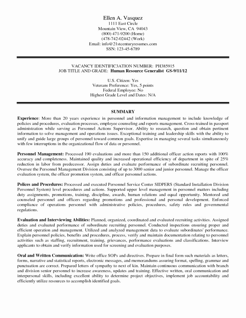 Federal Resume Writing Service Template