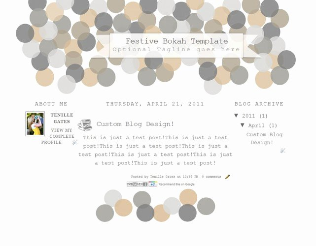 Festive Blog Template