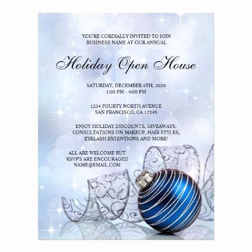 Festive Business Holiday Open House Flyer Template