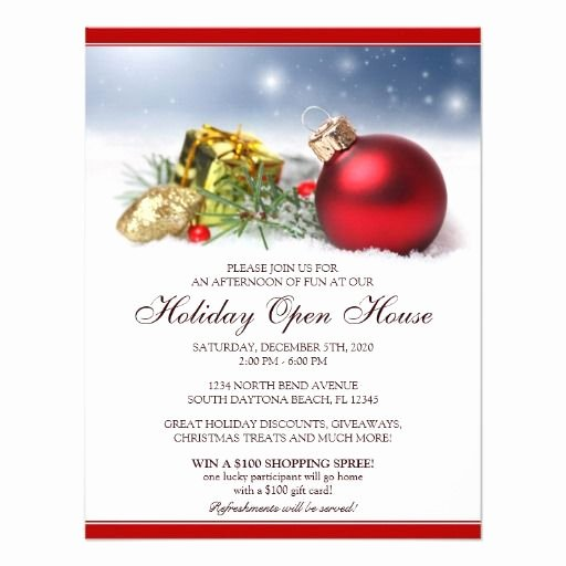 Festive Holiday Open House Invitations Template