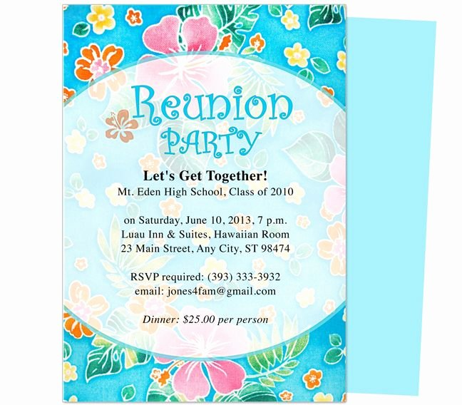 Festive Reunion Party Invitation Template Edits with Word