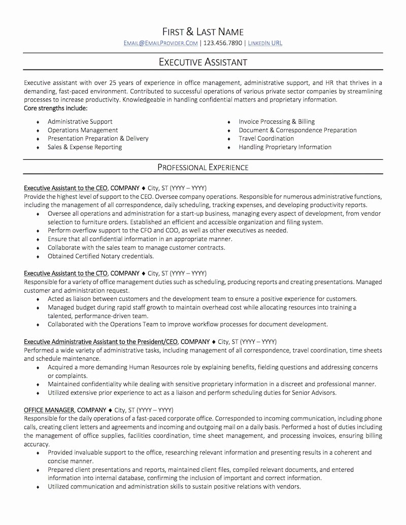 Fice Administrative assistant Resume Sample