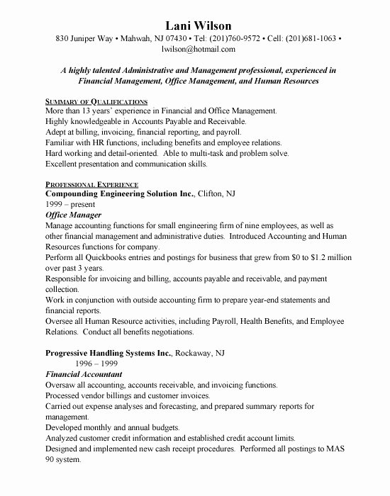 Fice Administrator Resume Sample