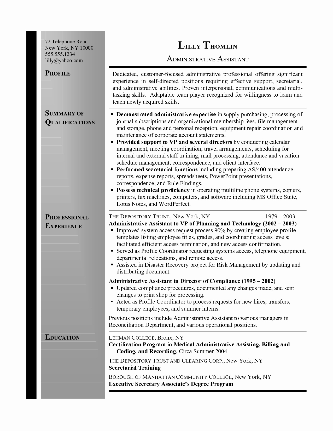 Fice assistant Resume Summary Resume Ideas