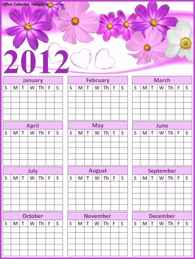 Fice Calendar Template