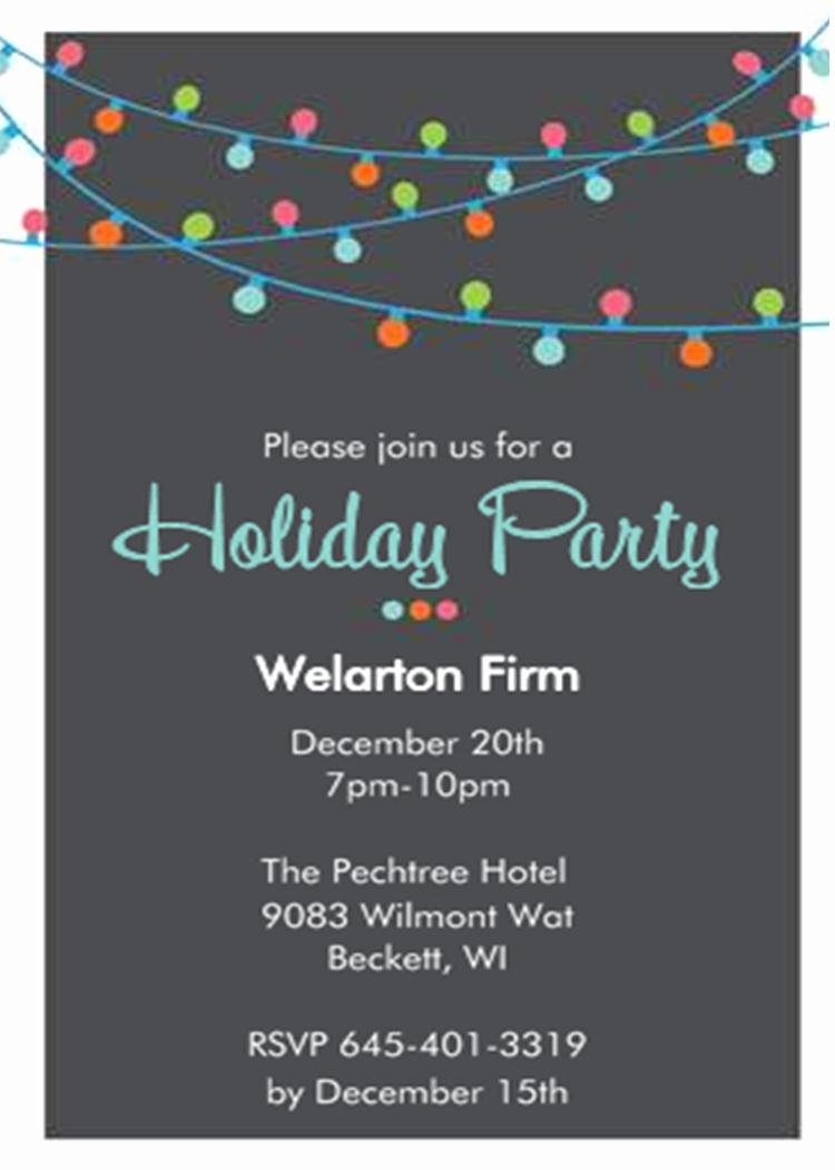 Fice Holiday and Christmas Party Invitations 2019