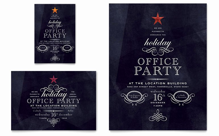 Fice Holiday Party Flyer & Ad Template Word & Publisher