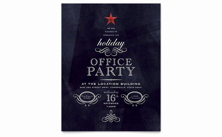 Fice Holiday Party Flyer Template Word & Publisher