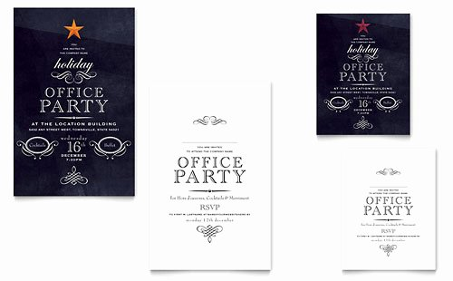 Fice Holiday Party Invitation Template