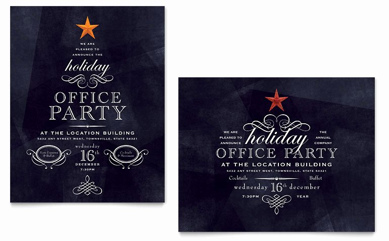 fice Holiday Party Poster Templates XX D