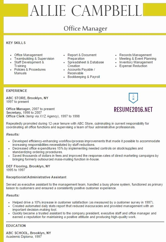 Fice Manager Resume 2016 Best Samples