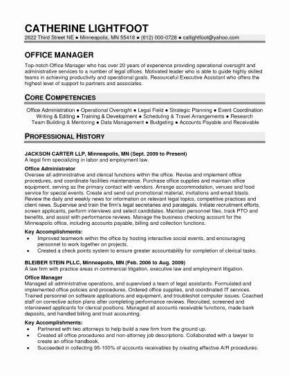 Fice Manager Resume Template Samplebusinessresume