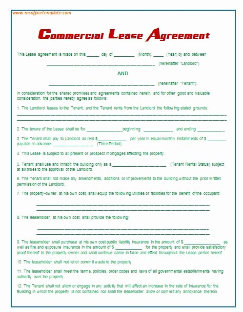 Fice Rental Agreement Template Free Printable Documents