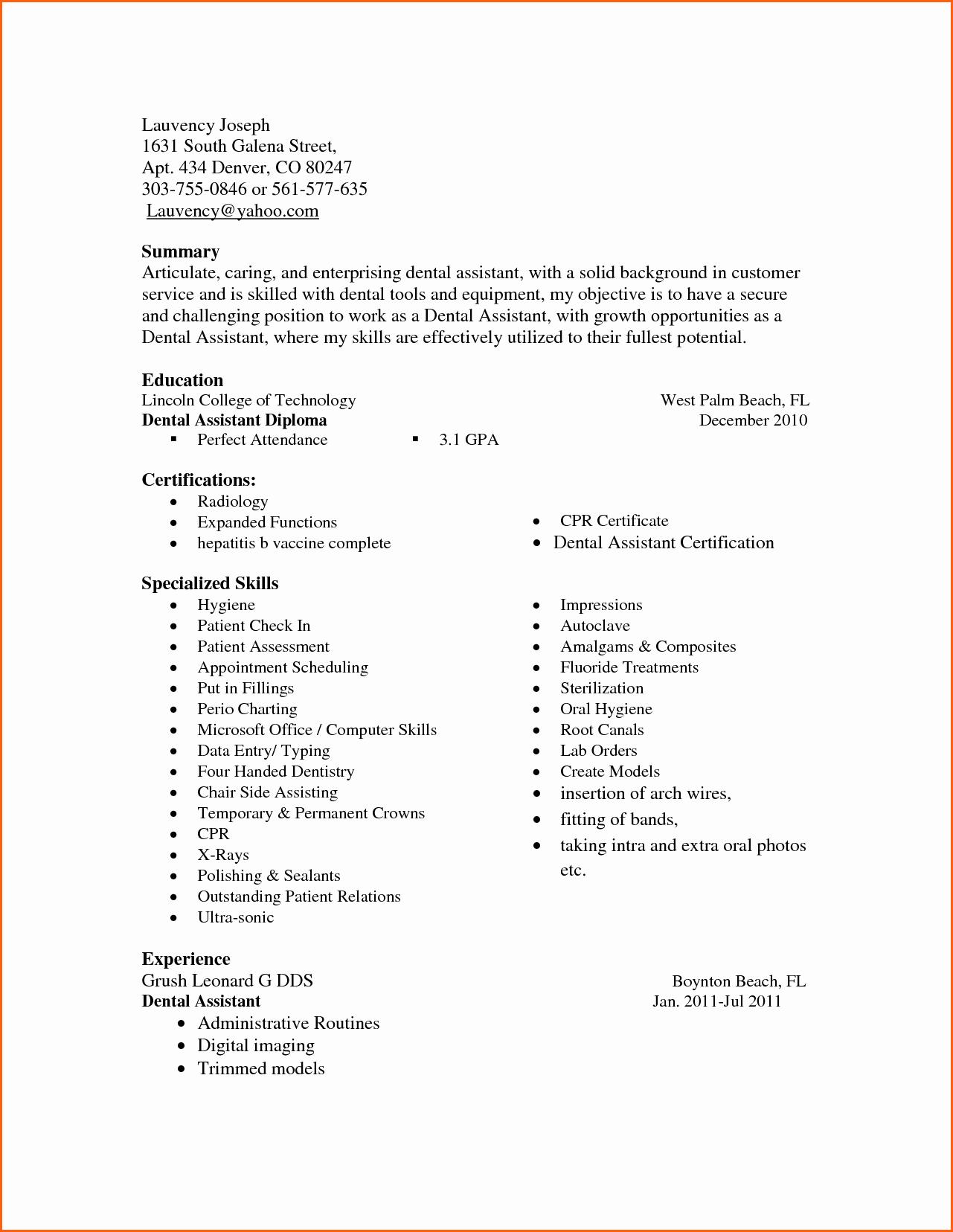 Fice Skills List Resume Sidemcicek