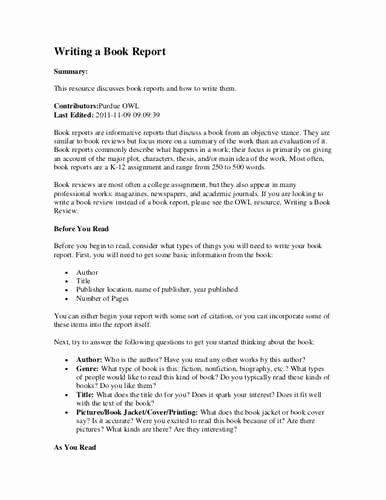 Fig 1 How to Write A Book Report