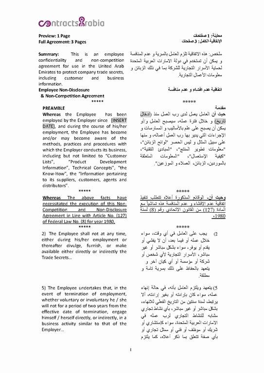 File Employee Non Disclosure Agreements Uae Pdf