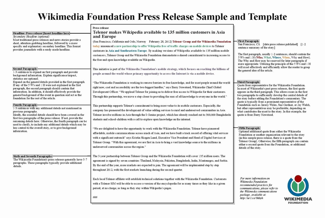 File Wikimedia Foundation Press Release Template Pdf