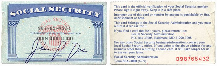 Fillable social Security Card Template Inspiration Blank