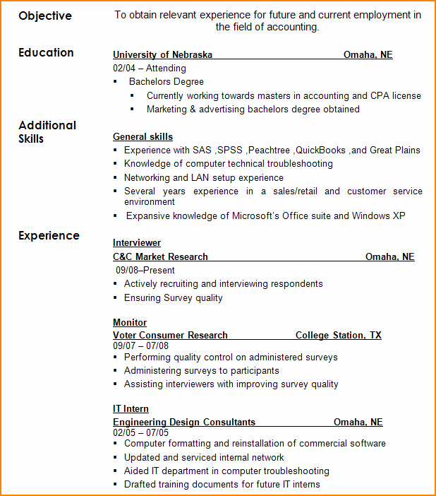 Filling Out A Resume – Resume Template Ideas