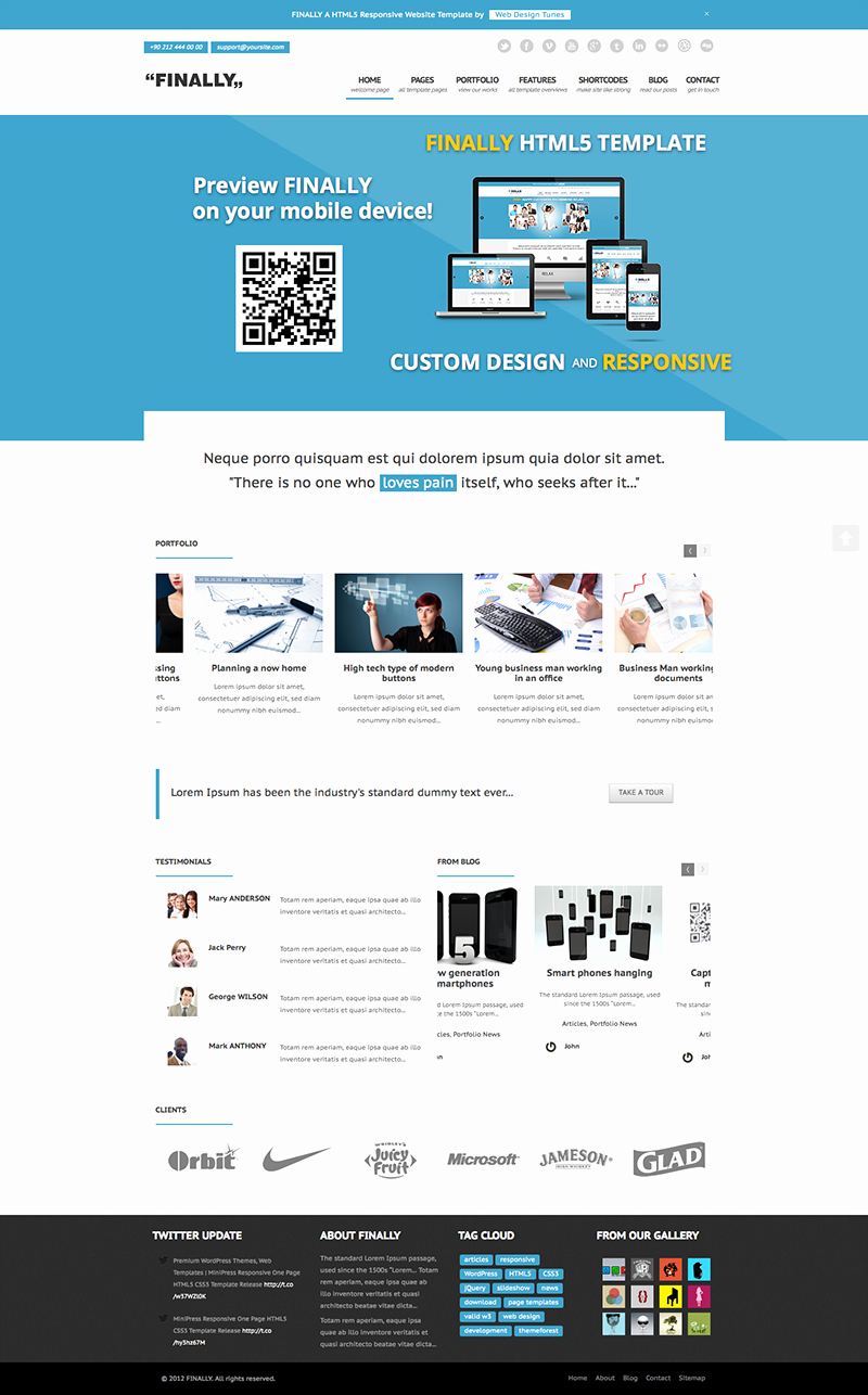 Finally Responsive HTML5 Website Template Ready for Review
