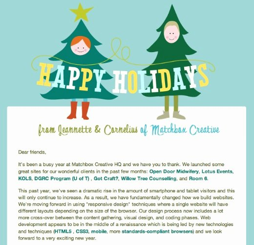 Finally We Pick A Winner for the 2011 Holiday Email