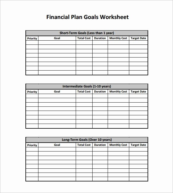 Financial Plan Templates 10 Free Word Excel Pdf