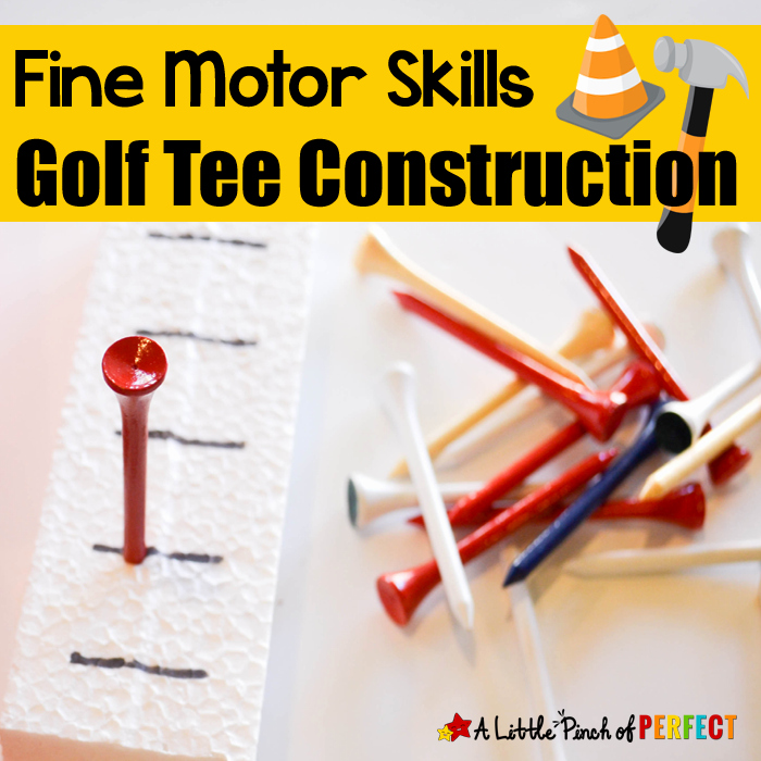 Fine Motor Skills Golf Tee Construction Activity