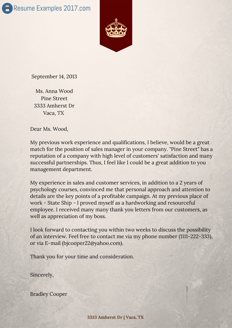 Finest Cover Letter Resume Examples