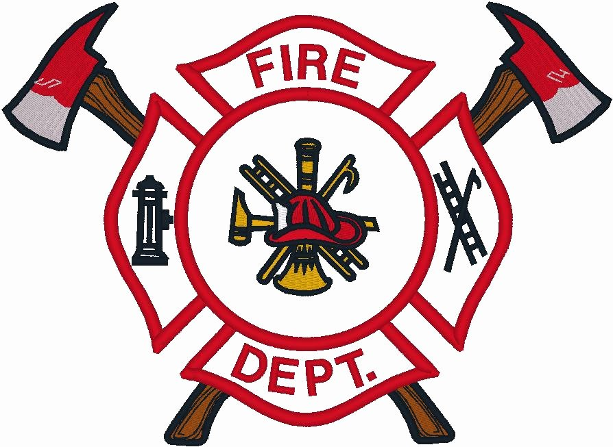 Fire Badge Clipart Outline Clipground