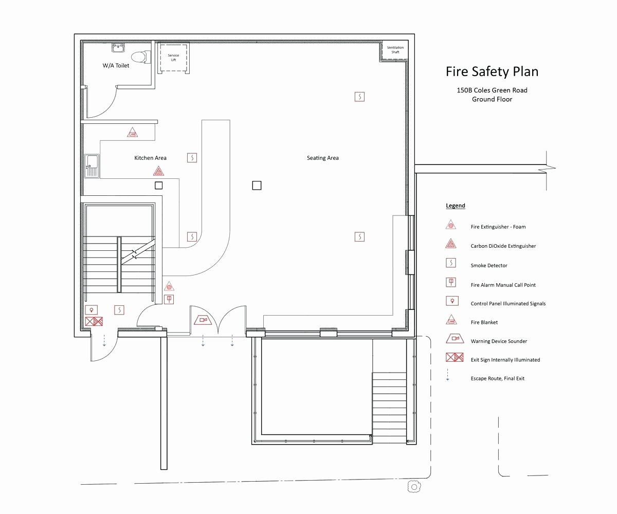 Fire Evacuation Floor Plan Template