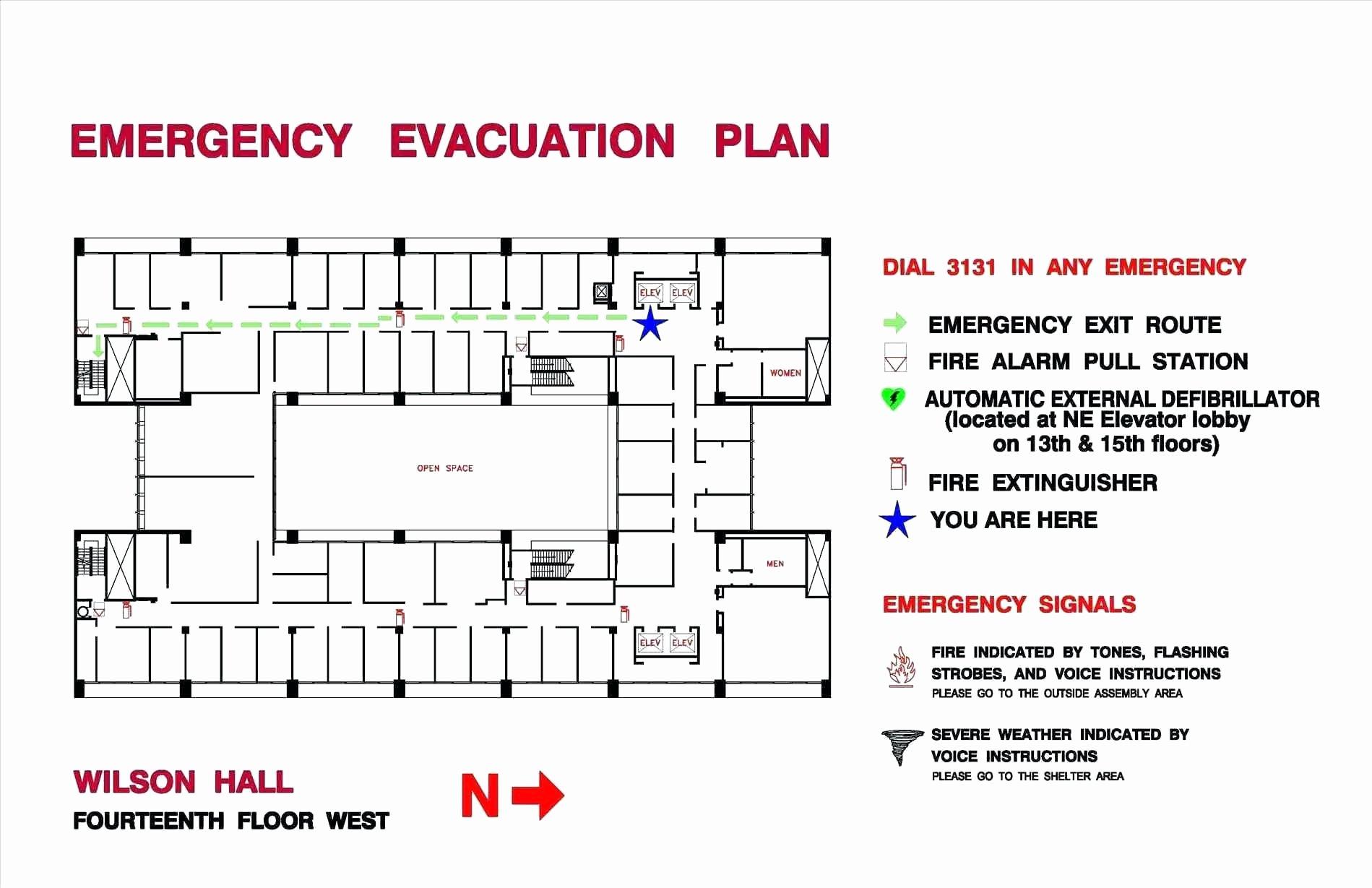 Fire Evacuation Floor Plan Template