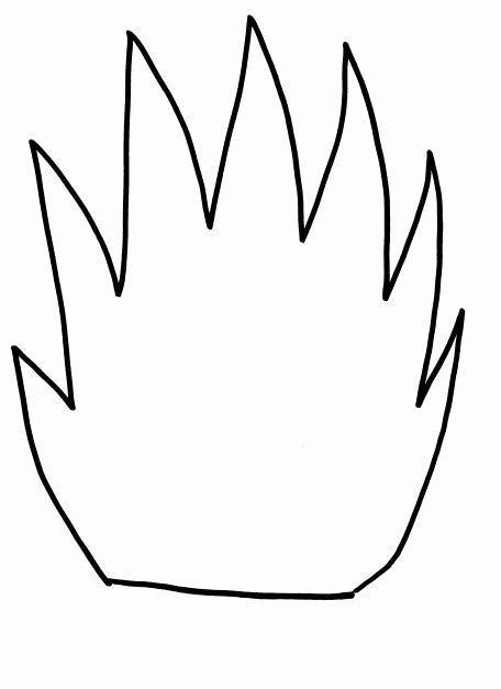 Fire Safety Flame Template for Kids