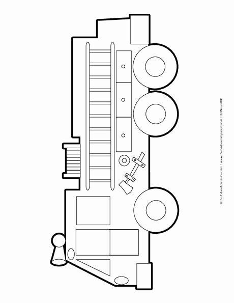 Fire Truck Coloring Page Firetrucks